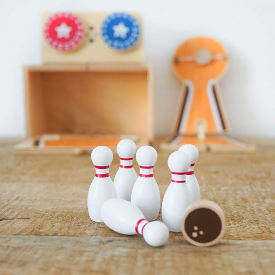 Mallette de bowling en bois