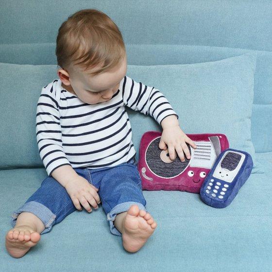 Téléphone portable en peluche