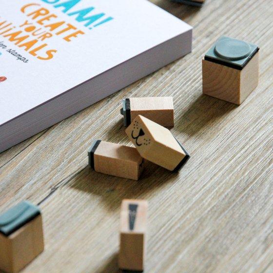 Tampons créatifs en bois
