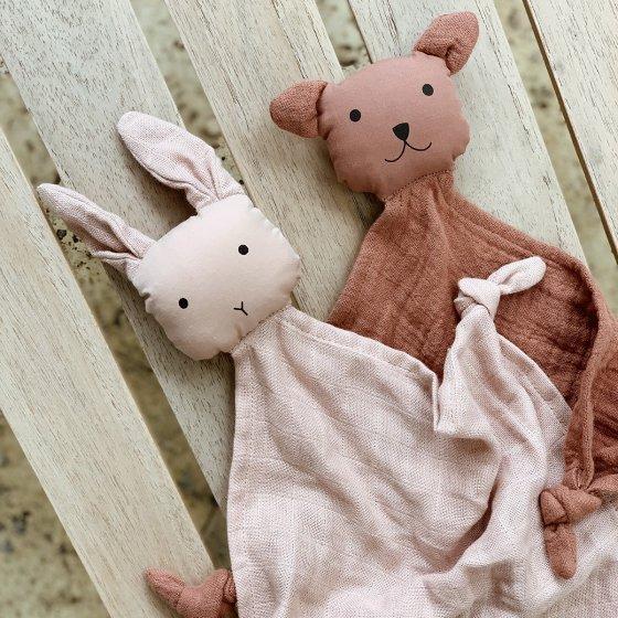 Duo de minis doudous en coton bio
