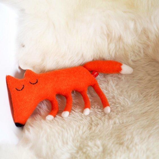 Monty, le renard en laine d'agneau