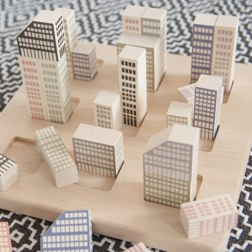 Set de blocs en bois Manhattan