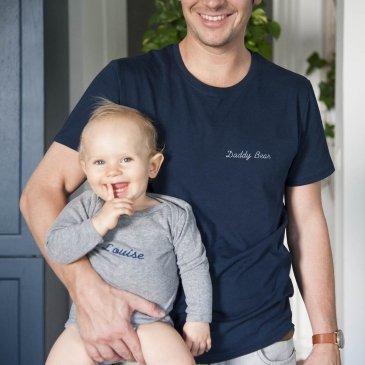 T-shirt papa brodé personnalisé
