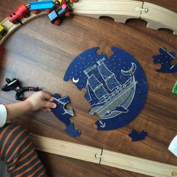 Puzzle rond