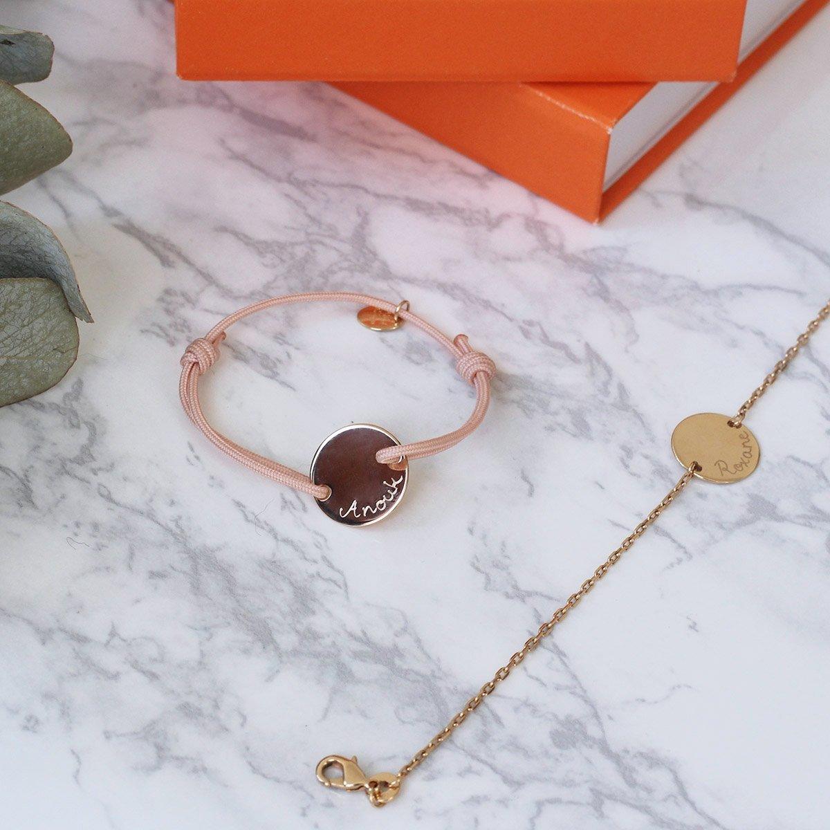 Duo de bracelets personnalisés mère-enfant