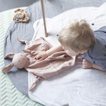 Doudou lapin en coton bio