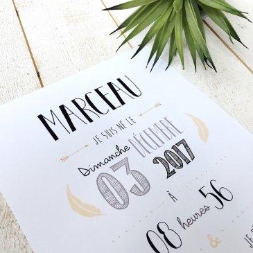 Affiche naissance personnalisée