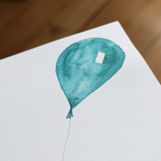 Affiche ballon personnalisée