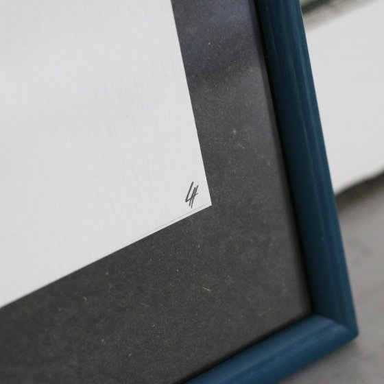 Affiche date calligraphiée