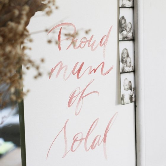 Aquarelle personnalisée Proud Mum / Dad