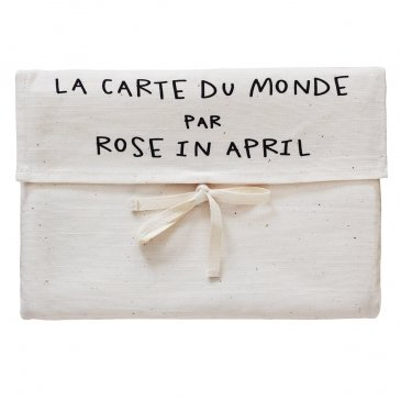 Poster carte du monde - Rose in april