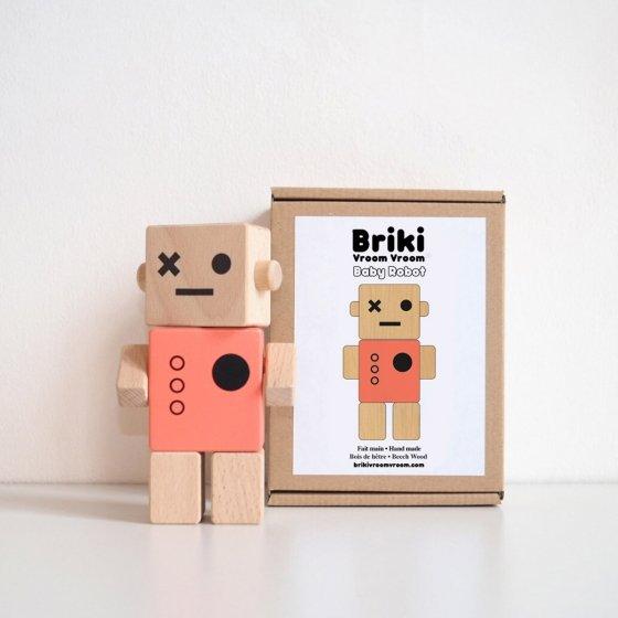 Robot articulé en bois