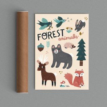 Affiche animaux Michelle Carlslund