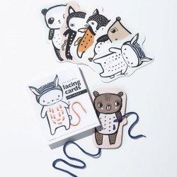 Cartes à lacer animaux - Kidzinspiration