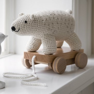 Animal au crochet à tirer