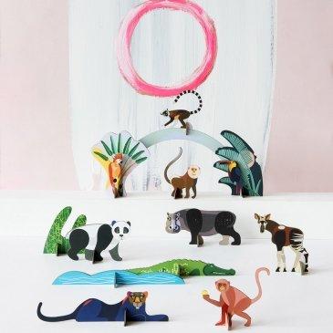 Animaux de la jungle décoratifs