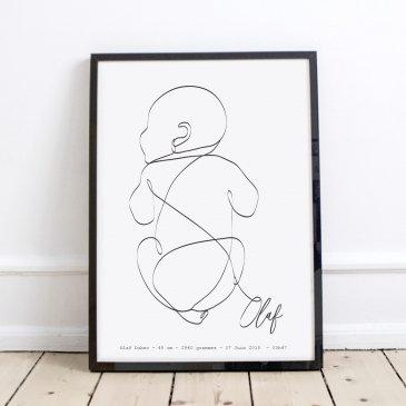 Affiche bébé personnalisée