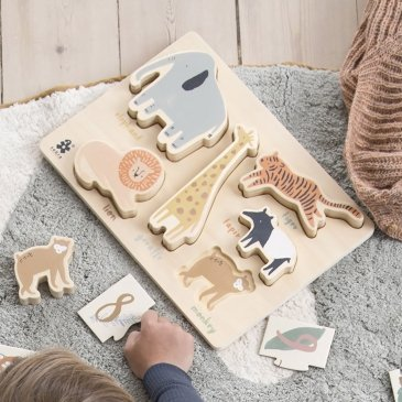 Puzzle en bois premier âge