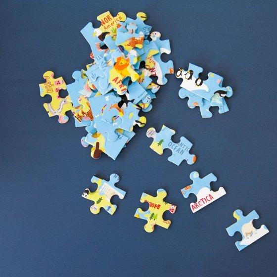 Puzzle de voyage monde