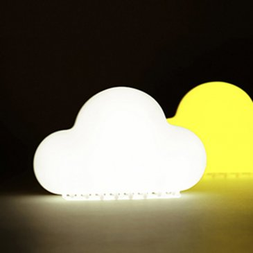 Veilleuse nuage tactile