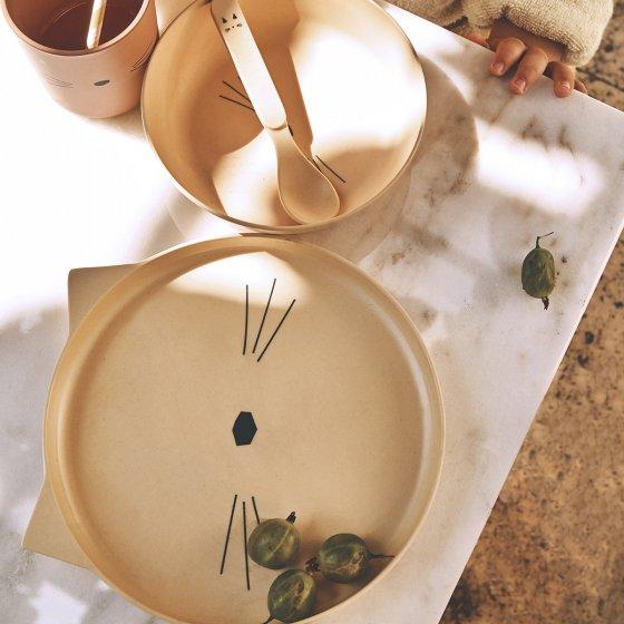 Set de vaisselle en bambou